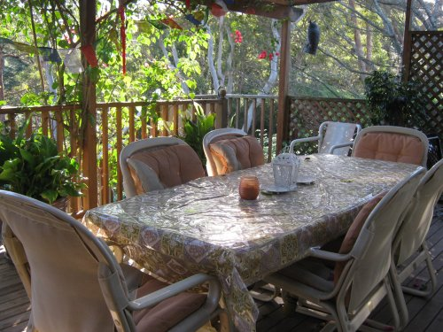 Outdoor patio with Bar-B-Q