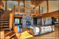 Luxury Handcrafted Log House set in 189 acres with private lake